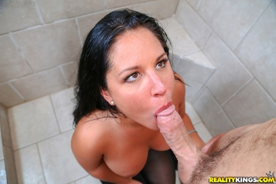 Ball cream on face of one of the sexiest Latinas ever named Missy Maze
