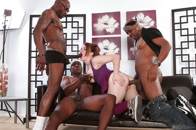 Deviant interracial fuckfest with astounding Ariel Stonem