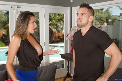 Vast bumpers gal Danica Dillon attains untried cock juice in gullet from her stallion