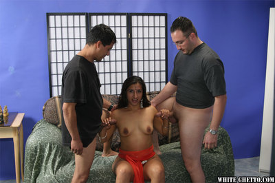 Cute indian doll benefits from blowbanged and owned hardcore by 2 dick-holders