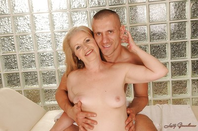 Saucy older with smooth head muff acquires team-banged hardcore later on massage