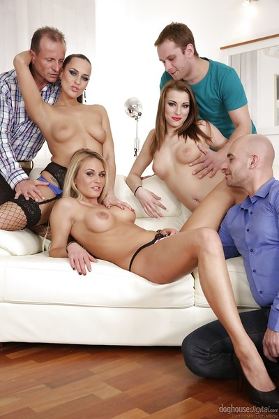Meaningful groupsex compliments of Mea Melone, Victoria Daniels and Laura Crystal