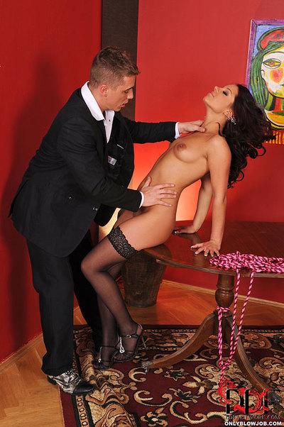 Queen Rivas Is Strained To Swallow Dick