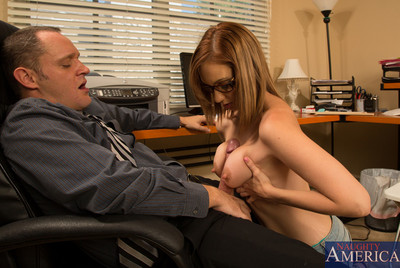 Hot dark brown youthful sucks her teachers jock and has perspired fucking with him.