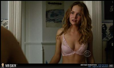 Brittany Robertson looks untamed in her skimpy bra.