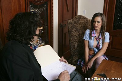 Major titted schoolgirl Jenna Presley obtains laid with a weighty phallus