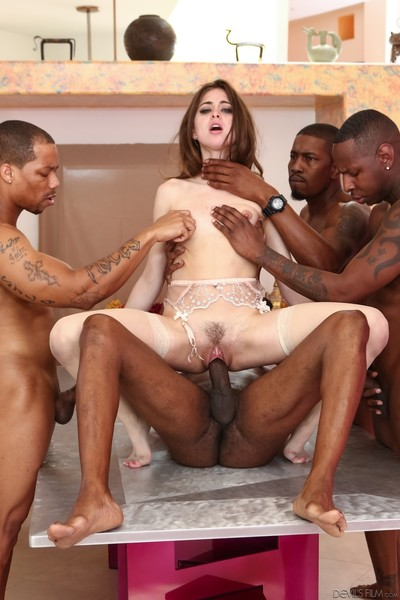 Riley reid in interracial group deed