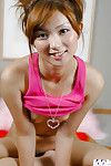 Loveable Japanese youthful chicito lazily uncovering her petite bends over