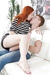 Redheaded youthful hottie Eva Berger going down on her bf previous to buttfucking
