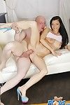 European dark brown Anita Sparkle has ass-hammering with her pal