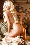 Sweet fairy dear Nicolette Shea posing topless and delightful off her shorts