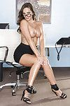 Office secretary with mammoth love muffins Destiny Dixon positions in high heels