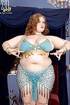 Deep-cleavaged Bellydancer