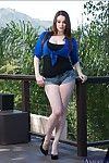 Rounded juvenile in jeans underclothing Tessa Lane getting as was born outdoor