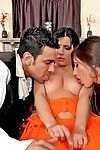 Sultry MILFs Alexis Breeze & Rebeca Linares enjoys a foursome groupsex