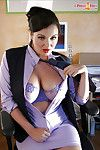 Colossal titted queen erotic dancing in the office to show her scoops