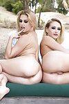 Boobsy blonde lesbos Kagney Linn Karter and Rachel RoXXX humping in bikinis