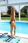 Seductive adolescent fairy with appealing legs erotic dance off her bikini