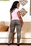 Teen African beauty Coco Isis shows off her fatty body