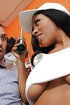 Colossal apples Swarthy princess Anya Ivy attains sperm stream right in her office