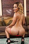 Surprising black doxy Teanna has her arse oiled up and thoroughly undressed
