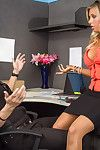Samantha Saint merely got backwards to the office from vacation and this girl finds her employee slacking off. Shes already super disheartened coz this girl haven`t done attain laid one time at the same time as her vacation. Her employee jokingly presents