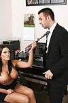 Mackenzee Break through sucks and drills her office mate\'s heavy knob