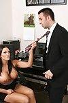 Mackenzee Break through sucks and drills her office mate\'s heavy knob