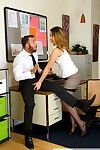 Shauna skye sucks and drills her coworker in the office