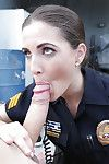 Policewoman in uniform Molly Jane giving suspect a bj and titty fuck