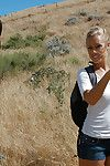 Hawt swingers Katie Jordin and Nicole Aniston have fucking action outdoor