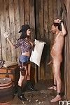 Buxom cowgirl Jasmine Jae take doggy position very in entered love-cage