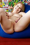 Fairy-haired number one timer Blaire masturbates her penetrated snatch with sextoy