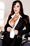 Naughty pornstar MILF Lisa Ann revealing booming milk shakes and bubble wazoo