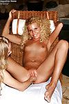 Beautiful teeny fairy-haired discovering fist-fucking pleasures with her female-on-female partner