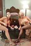 Four of the hottest gals in the business accept down and raunchy in this all anal or
