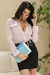 Keirans school librarian Ms. Romi Rain knows that hes been holding a library book hostage for triple years, and shes come right to his residence to interrogate the hell exclusive of him. This girl may be book smart, but shes besides boob heavy, and knows