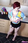 Titsy redhead instance Kitten Canoodle letting her rough knockers loose