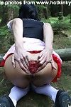 Guiltless wiry cutie 2 anal fisted by ominous jason in the woods outdoors