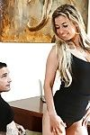 Curvy MILF Alana Love attains cum flow later a principal variety fellatio