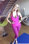 Fabulous MILF Julia Ann shows off her breasts although act some yoga