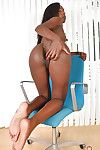 Brown model baring compact mambos and untamed MILF wazoo lower petticoat