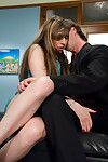 Ache dark brown lady-boy Aly Sinclair engulfing a heavy stick and fingering