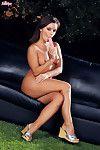 Seductive lass Jana Mrazkova is jacking off outdoors teasing toys