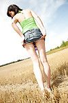 Lean adolescent pleasant her rigid gentile with a enormous ribbed sextoy outdoor