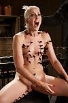 Fairy-haired obedience princess Dylan Ryan pegged with clothespins previous to masturbation