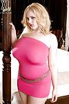 Curvy fatty Ashley Sage Ellison in skin-tight clothing and as was born