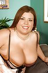 Mellow plumper in nylons Karlee Adams uncovering her zeppelins and gentile
