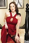 Boobsy MILF Kendra Passion undressing and amplifying her nylon  legs