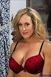 Boobsy minx in nylons Brandi Love erotic dancing off her underware